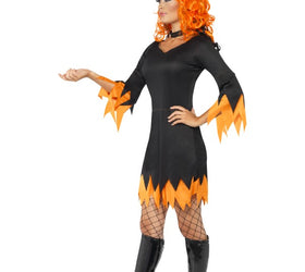 Witch dress with orange costume