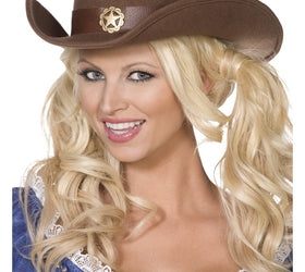 Wild West Cowboy Hat, Brown