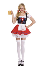 Red Oktoberfest Bavarian Female Outfit