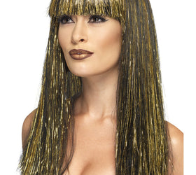 Egyptian Goddess Wig, Black and Gold