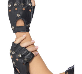 Black Punk Gloves