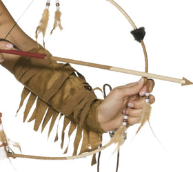 Native American Inspired Feathered Bow and Arrow Set