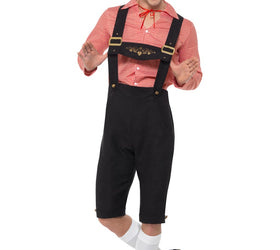 Red Bavarian Beer Guy Costume, Oktoberfest