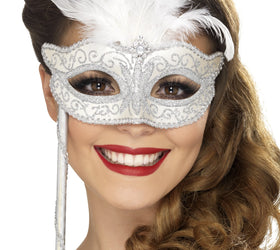 Fever Baroque Fantasy White Mask