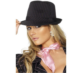 Gangster Trilby Hat, Black