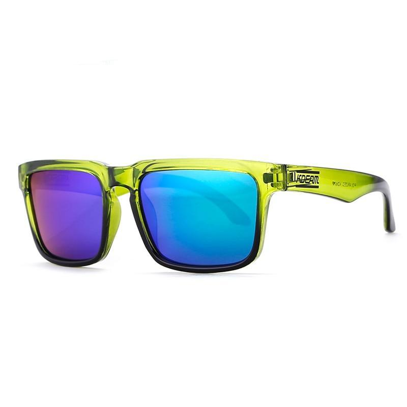 Cool Green Summer Square Frame Sunglasses