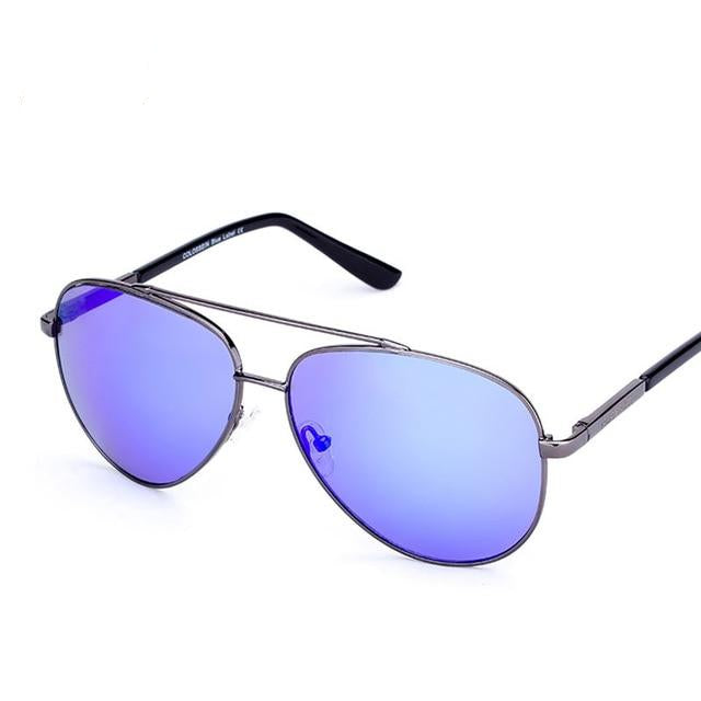 Pilot Style Metal Frame Sunglasses