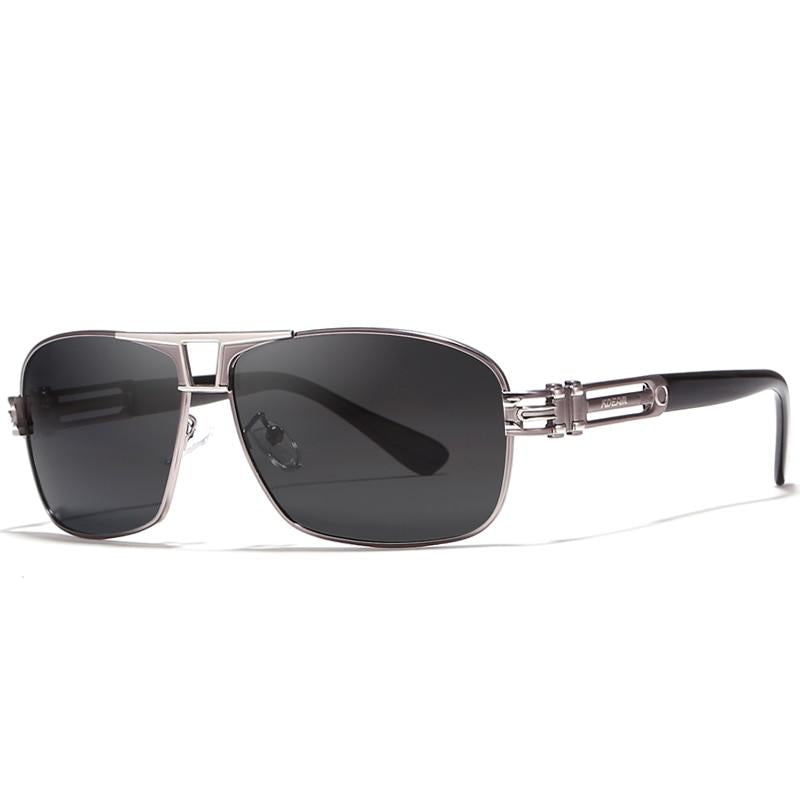 Polarized Metallic Black Steel-willed Sunglasses