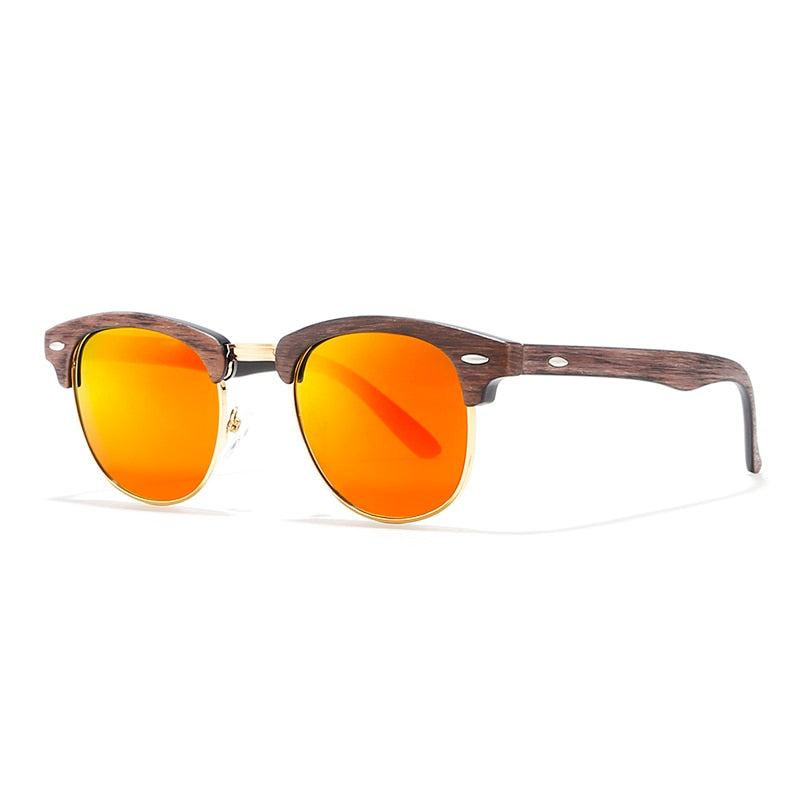 Gold-tone Semi-rimless Sunglasses