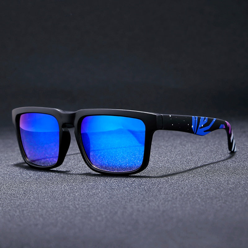 Super Square Frame Reflective Coating Sunglasses UV400