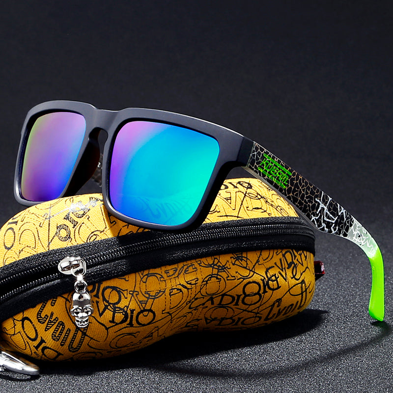 Hot Mirror Polarized Sunglasses With Peanut Case
