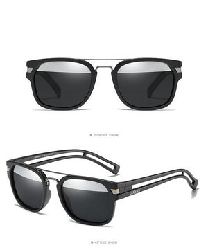 Square Hollow Polarized Vintage Sunglasses