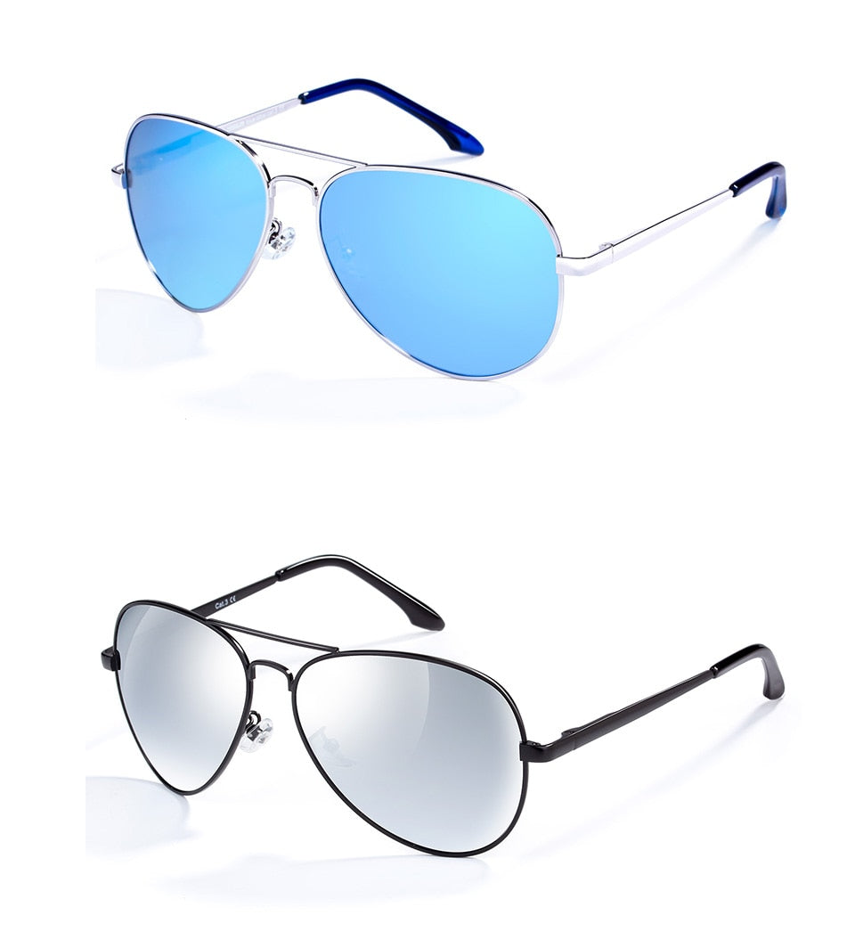 Polarized Classic Metal Pilot Glasses