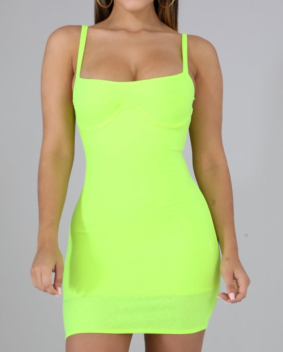 Volt Green Body-con Dress
