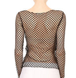 Fishnet Long Sleeve Top