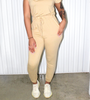 Safari Drawstring Jumpsuit
