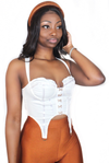 White Hook and Eye Corset Top