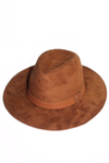 Brown Suede Fedora Hat