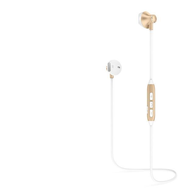 Ultra Light Bluetooth Earphones - White & Gold