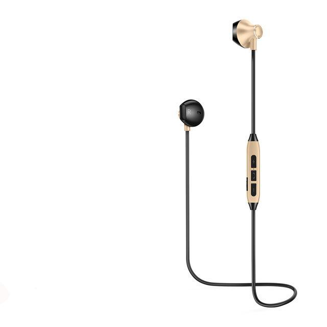 Ultra Light Bluetooth Earphones - Black & Gold