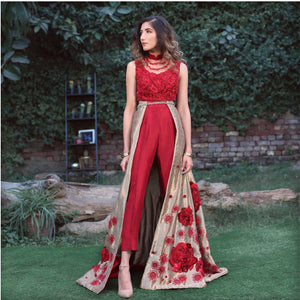 Rose Gold Deconstructed Lehenga Choli