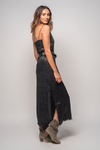 Shiny Black Snakeskin Slip Dress