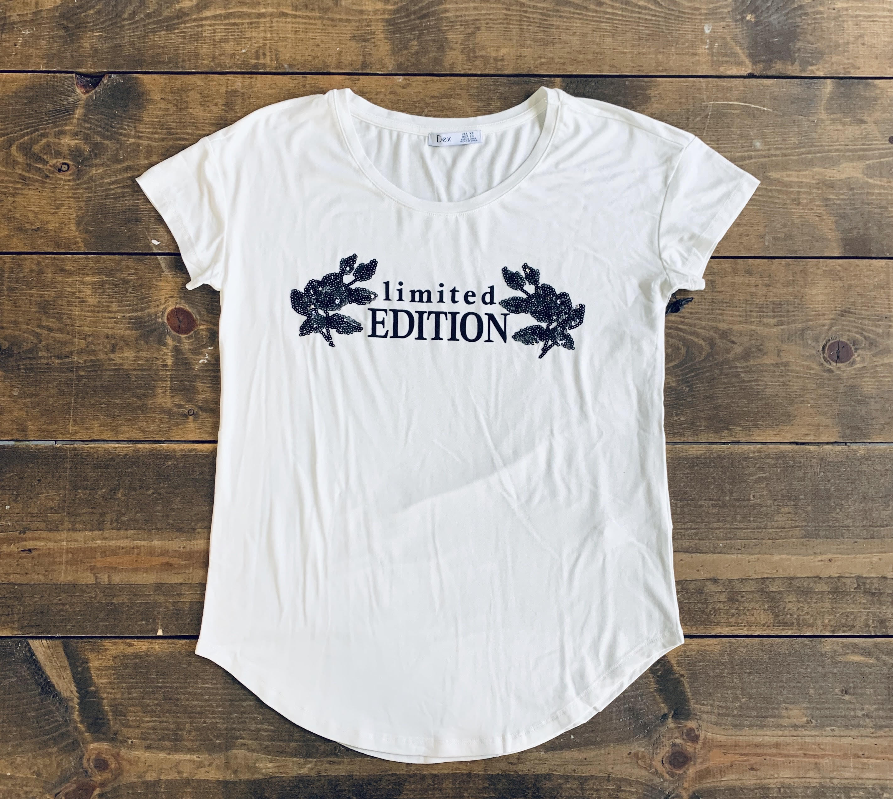 White Limited Edition Graphic Tee Shirt