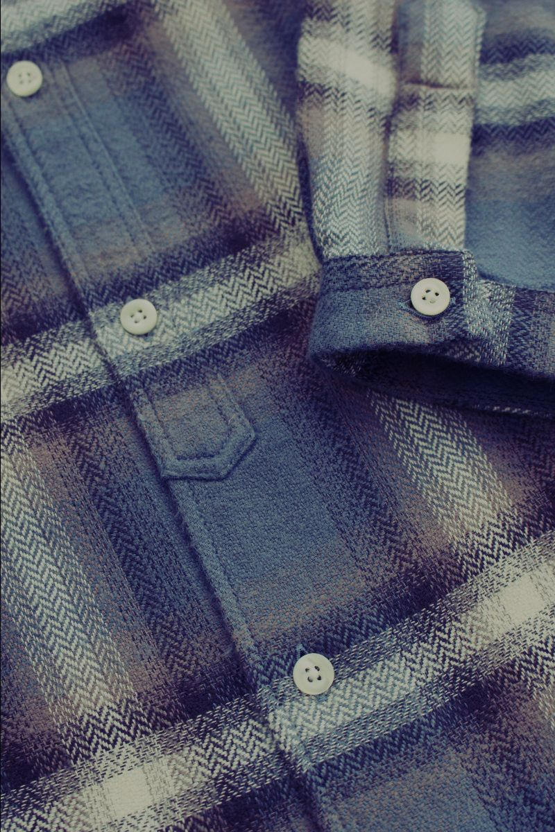 fused check overshirt
