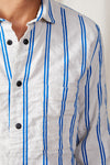 cali overshirt cotton linen dobby stripe 0107