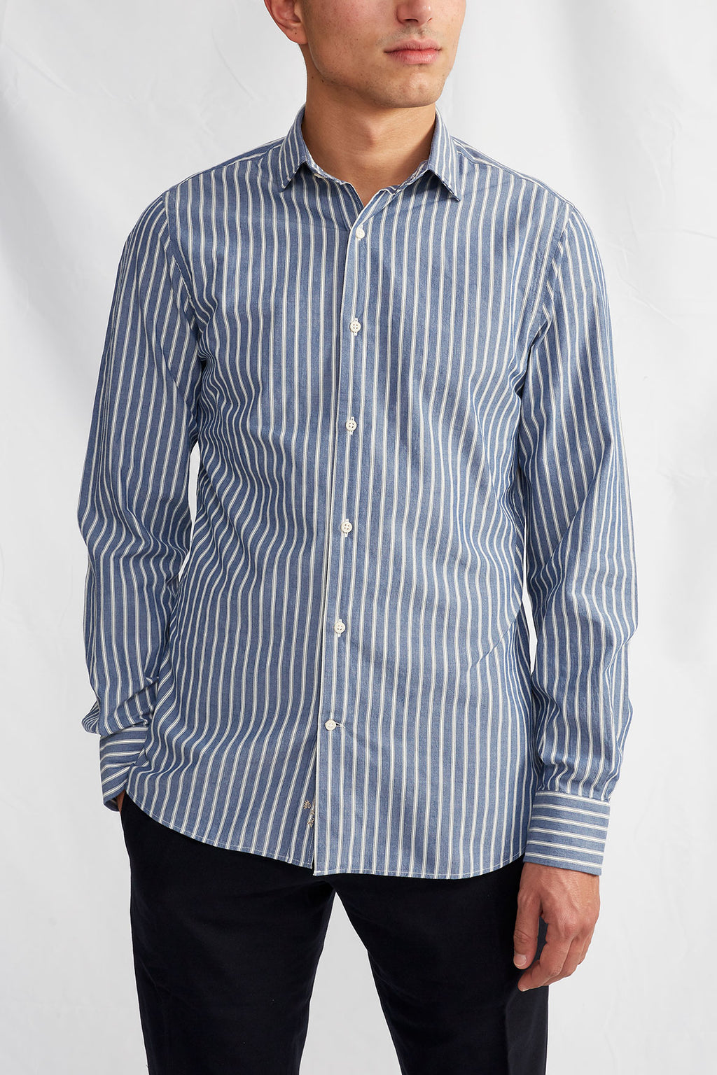 Liberty soft chambray stripe 0242