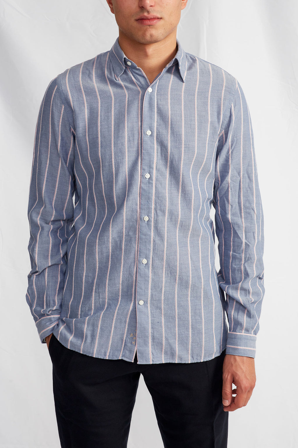 Liberty boucle stripe oxford 0208