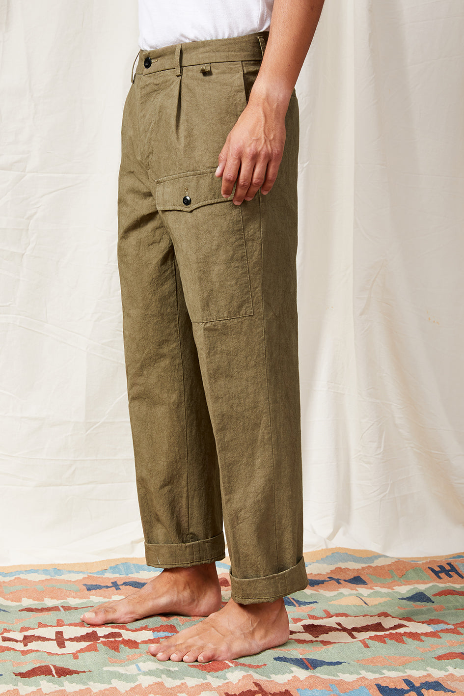 miniera pocket cotton linen ramie mud 0104