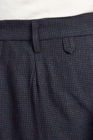 miniera wool cotton pie de poule navy 0226