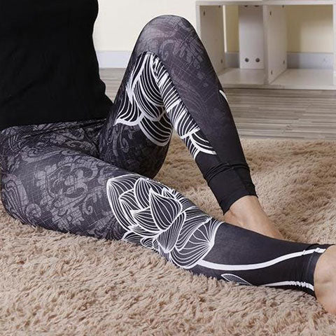 Black Lotus Leggings for Gym