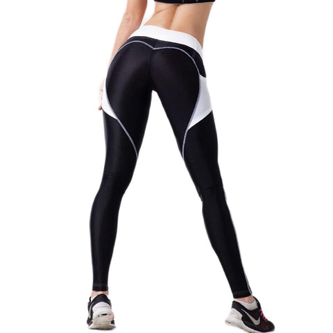 Sexy Heart Black leggings High Waist Tights for Jogging Workout