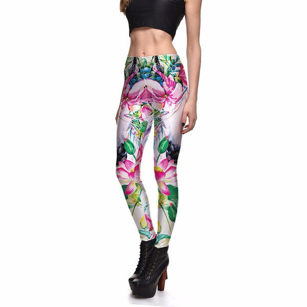 Funny Push Up Fitness Sexy 3D Lotus Leggings