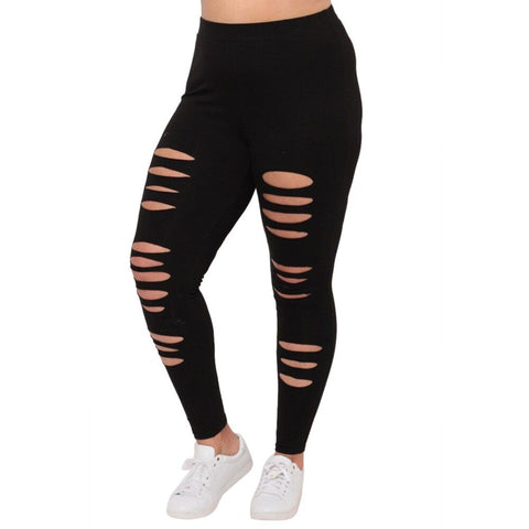 Women's Leggings Hollow Trousers Fashion plus Yoga Casual Pant