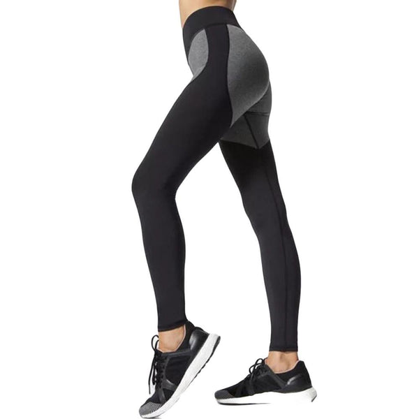 Push Up Quick Drying Fitness Black and Gray Patchwork leggings
