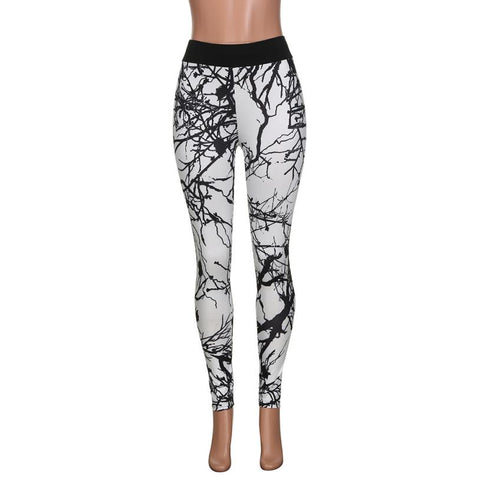 Pencil Push up Compression Yoga Pants Black Print Workout Leggings