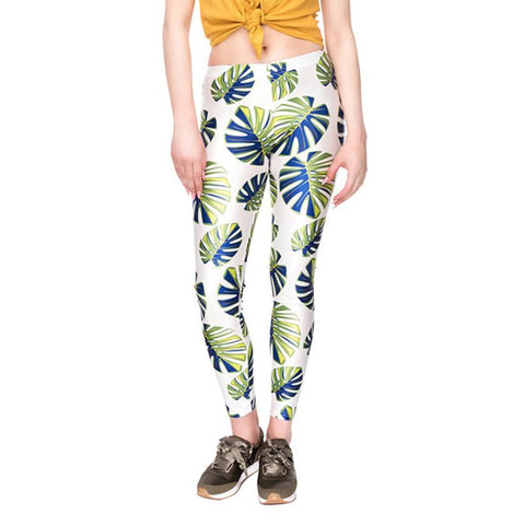 High Waist Yoga Running Push Up Pants Colourful Unique Print