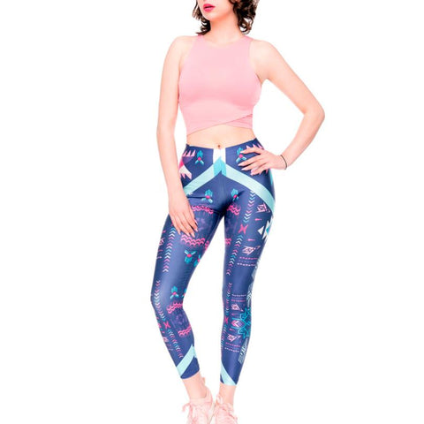 Women 3D print yoga skinny pants workout gym leggings