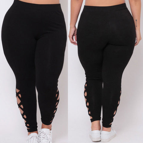 Yoga Pant Plus Size Elastic Criss-Cross Hollow Workout Legging