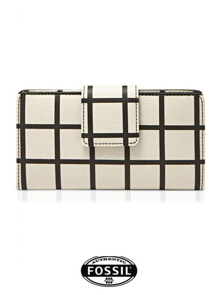 FOSSIL Leather Plaid Clutch Bag FS0709W060OW