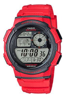 CASIO Men's Youth World Time Alarm World Map Watch AE-1000W-4AV