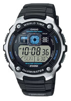 CASIO Men's Youth Illuminator World Time Alarm Watch AE-2000W-1AV