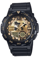 CASIO Men's World Time Alarm Analog Digital Watch AEQ-100BW-9AV