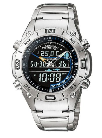CASIO Men's Analog Digital Fishing Gear World TimeWatch AMW-703D-1AV
