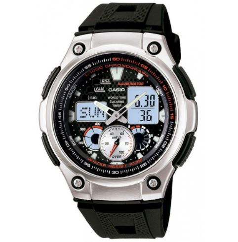 CASIO Men's Analog Digital Youth Series Illuminator AQ-190W-1AV