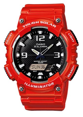 CASIO Men's Analog Digital Tough Solar Watch AQ-S810WC-4AV