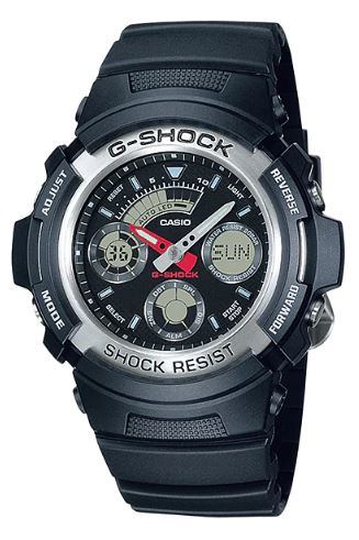 CASIO Men's G-Shock Analog Digital World Time AW-590-1A